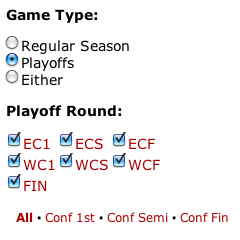 Playoff Rounds