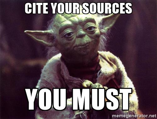 Cite your source. You Must.