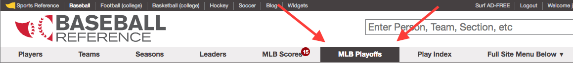 How To Find Postseason Stats And Records On Baseball Reference